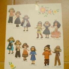 Muñecas Lesly de Famosa: CARTÓN TRASERO DE CAJA LESLY ANTIGUA . Lote 25556245