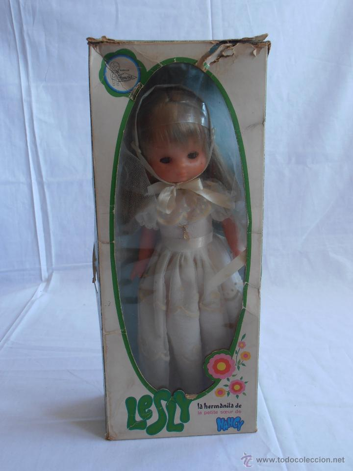 Muñecas Lesly de Famosa: MUÑECA LESLY, COMUNIÓN EN CAJA ORIGINAL FAMOSA AÑOS 70 - Foto 10 - 50364793
