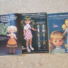 Muñecas Lesly de Famosa: PUBLICIDAD LESLY.. Lote 104506926