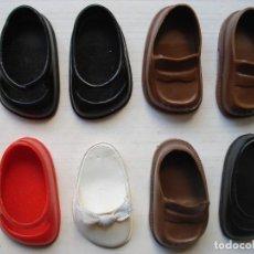 Muñecas Lesly de Famosa - Lote de 8 Diversos Zapatos Originales Color Negro Marrón Rojo Lesly Famosa Made in Spain - 144056838