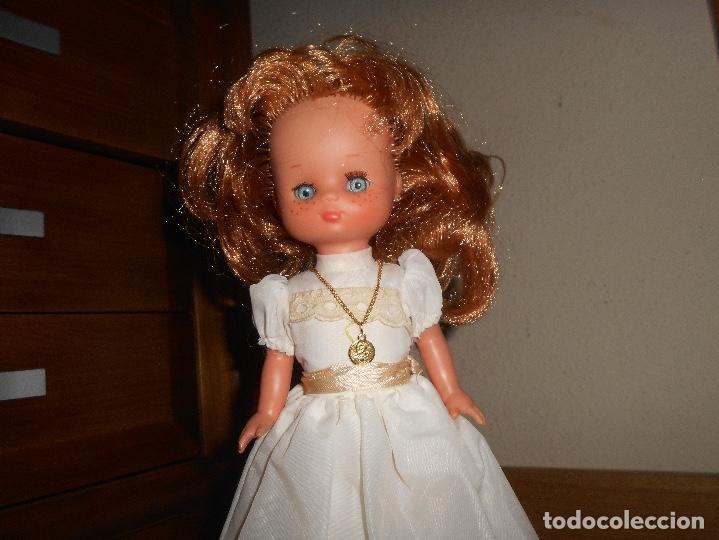 Muñecas Lesly de Famosa: Lesly pelirroja 10 PECAS flequillo de famosa de Comunión Buen estado años 70 - Foto 6 - 147846538