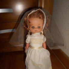 Puppen Lesly von Famosa - Muñeca Lesly 10 pecas brazo duro pelirroja comunión años 70 - 151921270