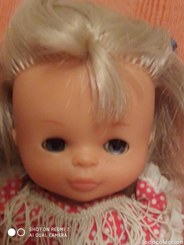 Muñecas Lesly de Famosa: Muñeca pitusa sevillana flamenca ojos azules años 70 - Foto 3 - 182806588