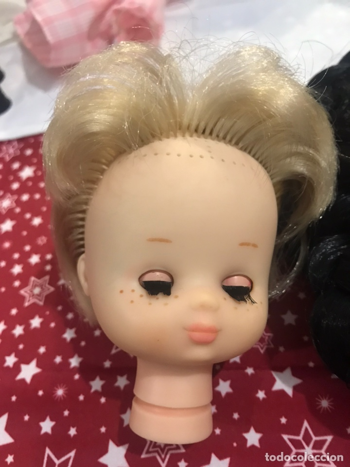 Muñecas Lesly de Famosa: Cabeza lesly para implante rociera (incluye pelo) - Foto 2 - 190534715