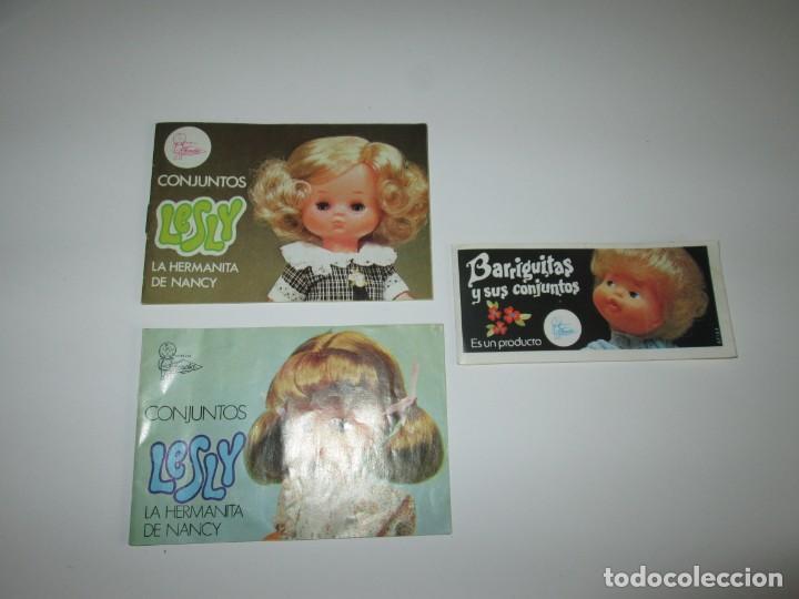 DOS CATALOGOS LESLY + UNO BARRIGUITAS ~ FAMOSA (Juguetes - Muñeca Española Moderna - Lesly)