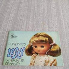 Muñecas Lesly de Famosa: CATÁLOGO LESLY. CONJUNTOS. 1.977.. Lote 206217046