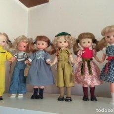 Muñecas Lesly de Famosa: LOTE 6 MUÑECAS LESLY CON SUS TRAJES COMPLETOS. Lote 222627565