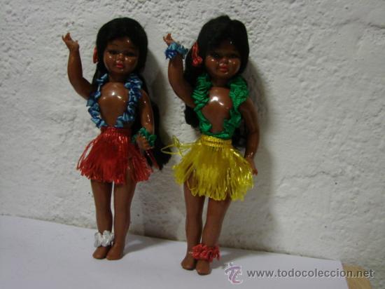 2 MUÑECAS HAWAIANAS (Juguetes - Muñeca Extranjera Moderna - Otras Muñecas)