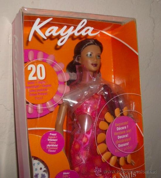 KAYLA,AMAZING NAILS,DE BARBIE,MATTEL,2001,CAJA ORIGINAL,A ESTRENAR (Juguetes - Muñeca Extranjera Moderna - Otras Muñecas)