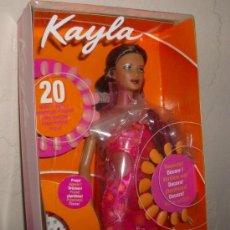 Muñecas Modernas: KAYLA,AMAZING NAILS,DE BARBIE,MATTEL,2001,CAJA ORIGINAL,A ESTRENAR. Lote 22504709