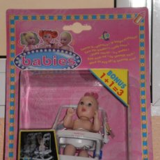 Muñecas Modernas: MUÑECA BABIES DE LA MARCA IDEAL AÑO 1998 ( LUCIA ANDA EN SU TACATÁ ) COLECCIONABLES . CAJA SIN ABRIR. Lote 30780386