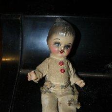 Muñecas Modernas: ANTIGUO MUÑECO DE TERRACOTA PINTADO A MANO. Lote 31153821