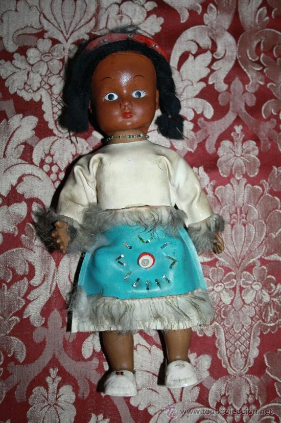 BONITA MUÑECA DE GOMA - REP. INDIA - AÑOS 60-70 - HONGKONG (Juguetes - Muñeca Extranjera Moderna - Otras Muñecas)
