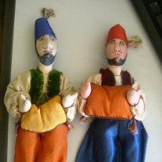 Muñecas Modernas: PAREJA DE ANTIGUOS MUÑECOS EN TRAPO Y TELA, TURQUIA, LA CAPADOCIA DANZANTES. Lote 32953484
