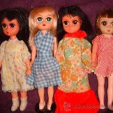 Muñecas Modernas - 4 Muñecas americanas antiguas Susie Sad Eyes pre Blythe Kenner 1960s rubia castaña morena original - 32964831