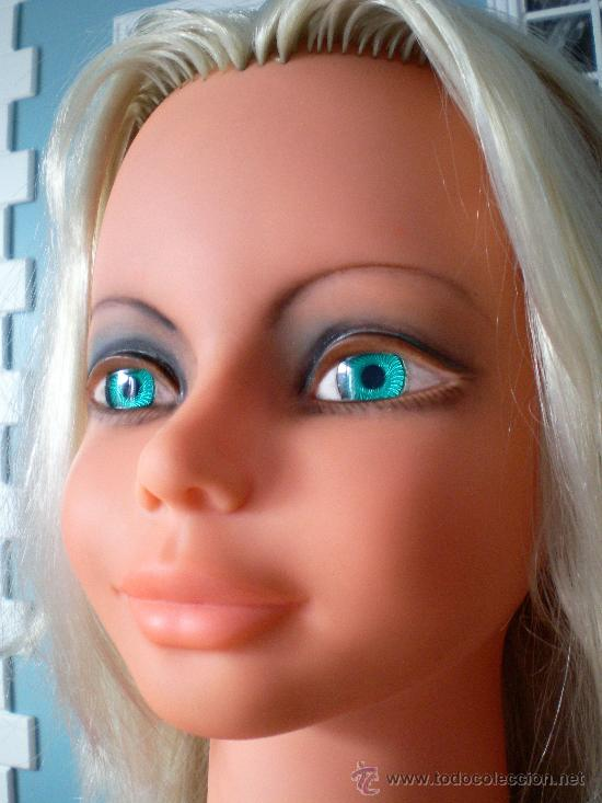 cabeza de muñeca para peinar y maquillar, vinta - comprar otras