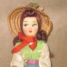 Muñecas Modernas: MUÑECA REGIONAL FRANCESA,TRAPO Y CELULOIDE,AÑOS 60. Lote 35068273