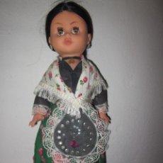 Muñecas Modernas: MUÑECA ANTIGUA, CON VESTIDO REGIONAL ¿ARAGONESA?. Lote 36375850