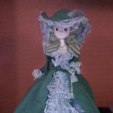 Muñecas Modernas: PRECIOSA MUÑECA VESTIDA DE PASTORA,REALIZADA EN CORCHO BLANCO FORRADO CON TEJIDO,60S,JAPON. Lote 38851160