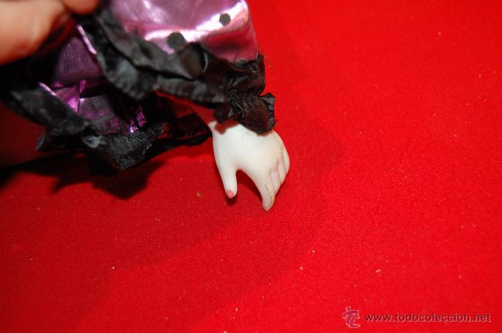 Muñecas Modernas: Pierrot de porcelana y cuerpo de relleno. Grande. - Foto 4 - 40063806