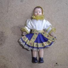 Muñecas Modernas: RARA MUÑECA CHECA ANTIGUA TRAJE TÍPICO CHEQUIA EN TELA ORIGINAL AÑOS 60 VINTAGE RETRO. Lote 42003917