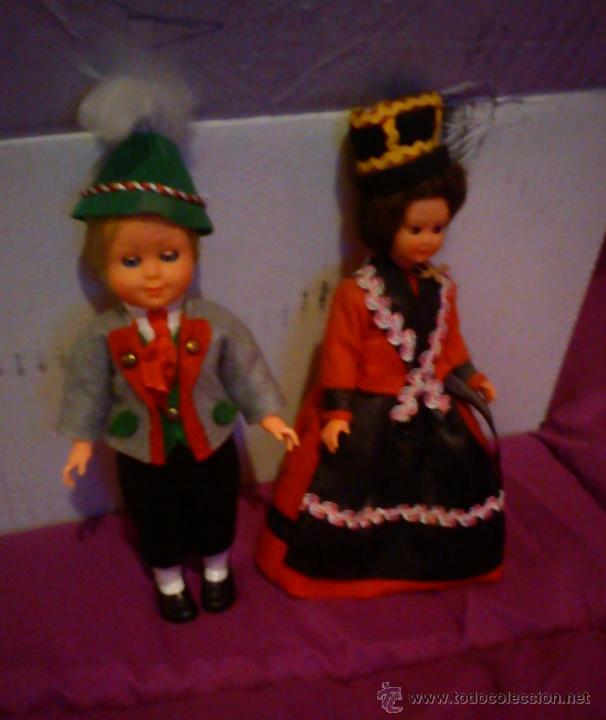 PAREJA DE MUÑECAS DE CELULOIDE TÍPICOS DE AUSTRIA (Juguetes - Muñeca Extranjera Moderna - Otras Muñecas)