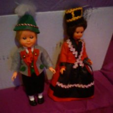 Muñecas Modernas: PAREJA DE MUÑECAS DE CELULOIDE TÍPICOS DE AUSTRIA. Lote 42368905