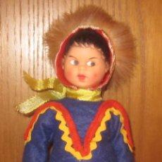 Muñecas Modernas: MUÑECO LAPONIA FINLANDIA,POPPENTOPPER,TRAJE AZUL,AÑOS 60. Lote 43380321