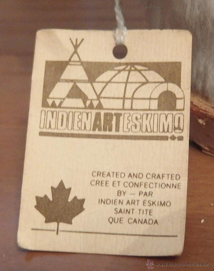 Muñecas Modernas: INDIA ESQUIMAL DEL CANADÁ,ETIQUETA,AÑOS 60 Ó 70 - Foto 2 - 47064090