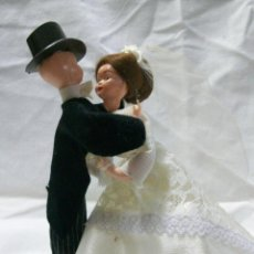 Muñecas Modernas: ANTIGUA PAREJA DE MUÑECOS-PARA TARTA DE BODA. Lote 47942273