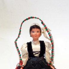 Muñecas Modernas: MUÑECA DANZADORA VASCA DE LE MINOR. MIDE 20CM DE ALTURA TOTAL. VER DESCRIPCION.. Lote 48656439
