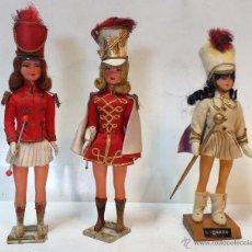 Muñecas Modernas: LOTE 3 MUÑECA MAJORETTE, DE ORIGEN FRANCES. VER DESCRIPCION.. Lote 48657675