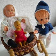 Muñecas Modernas: PRECIOSAS Y ANTIGUAS MONEQUITAS DE COLECION MAD ITALY DOS ANOS 60,70 OJOS DURMIENTES DE MARGARITA. Lote 49156152