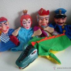 Muñecas Modernas: MAGNIFICA COLECION DE MARIONETAS PARA LOS NINOS ACER TEATRO HECHO DE GOMA DURA Y LAS ROPAS DE TECIDO. Lote 49695975