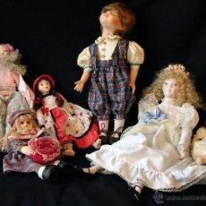 Muñecas Modernas - Muñeco durmiente de porcelana, finales del siglo XX. - 50037488