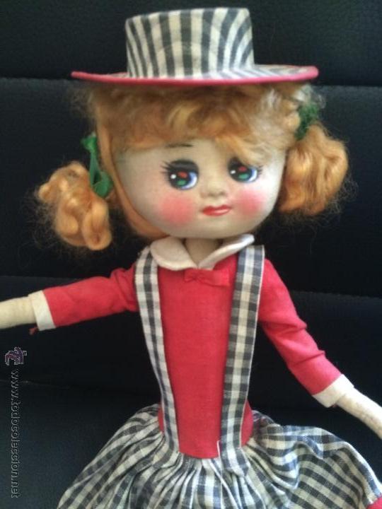 ANTIGUA MUÑECA DE TRAPO ORIGINAL SIN MANIPULAR PARECIDA A A JESSIE Y WOODY DE TOY STORY. AÑOS 50 (Juguetes - Muñeca Extranjera Moderna - Otras Muñecas)