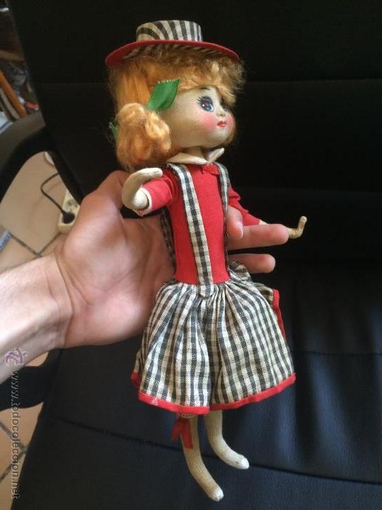 Muñecas Modernas: Antigua muñeca de trapo original sin manipular parecida a a jessie y woody de toy story. años 50 - Foto 3 - 50261293