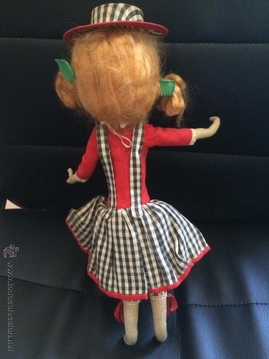 Muñecas Modernas: Antigua muñeca de trapo original sin manipular parecida a a jessie y woody de toy story. años 50 - Foto 4 - 50261293