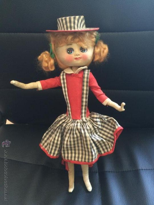 Muñecas Modernas: Antigua muñeca de trapo original sin manipular parecida a a jessie y woody de toy story. años 50 - Foto 5 - 50261293
