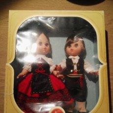 Muñecas Modernas: PAREJA DE MUÑECAS TRAJES REGIONALES DE FOLK ARTESANIA , IMPORTANTE MARCA DE ONIL(ALICANTE). Lote 53045277