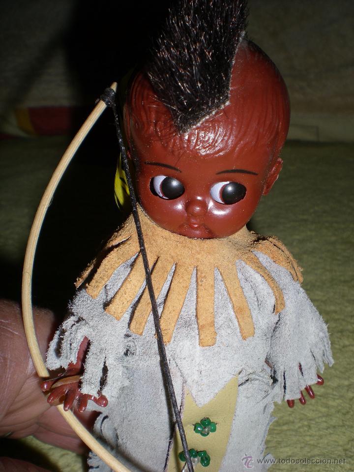 Muñecas Modernas: precioso muñeco americano kewpie negrito de mohicano o cherokees hecho vinilo de origen como nuevo - Foto 2 - 53072065