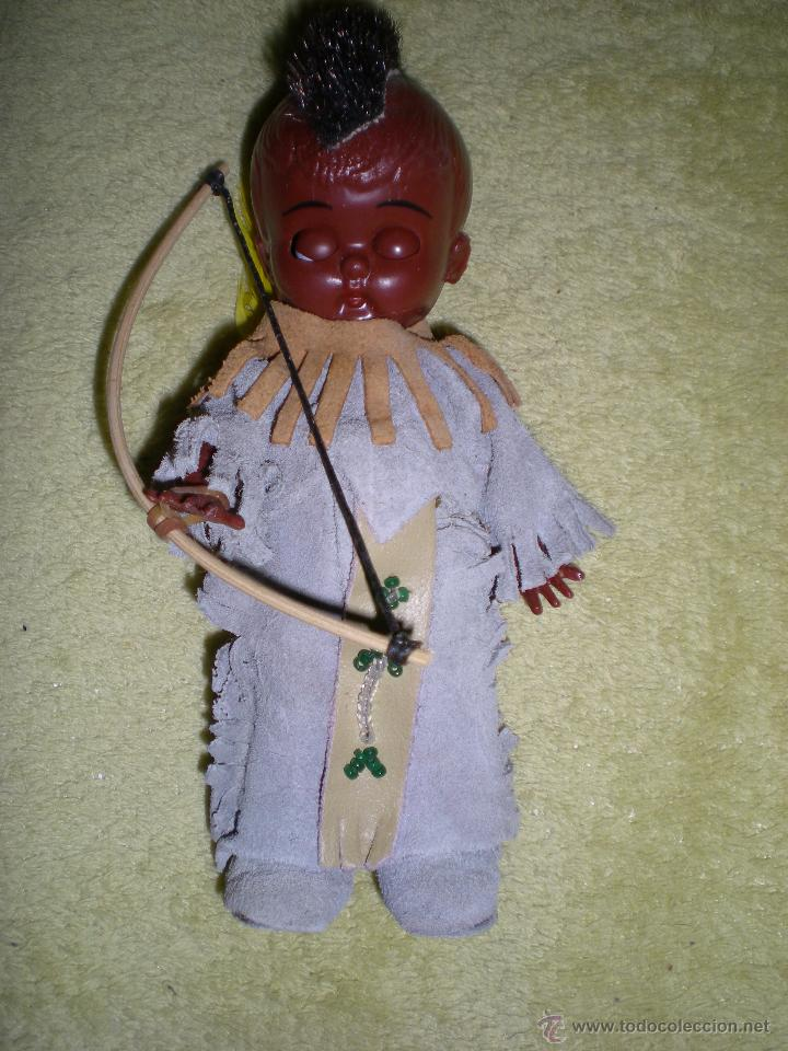 Muñecas Modernas: precioso muñeco americano kewpie negrito de mohicano o cherokees hecho vinilo de origen como nuevo - Foto 3 - 53072065