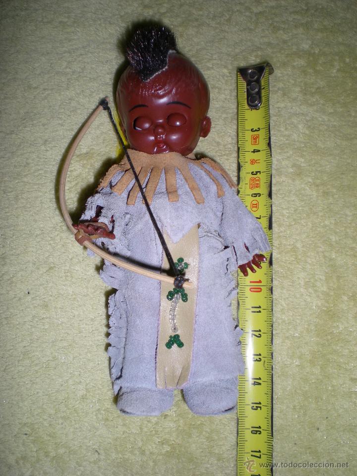 Muñecas Modernas: precioso muñeco americano kewpie negrito de mohicano o cherokees hecho vinilo de origen como nuevo - Foto 4 - 53072065