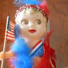 Muñecas Modernas: MUÑECA CELULOIDE PATRIOTICA AMERICANA. ORIGINAL USA. AÑOS 50. Lote 54041330