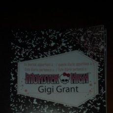 Muñecas Modernas: DIARIO MONSTER HIGH GIGI. Lote 54271147