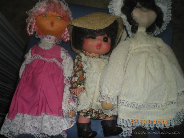 3 MUÑECAS FRANCESAS AÑOS 70-80 (Juguetes - Muñeca Extranjera Moderna - Otras Muñecas)