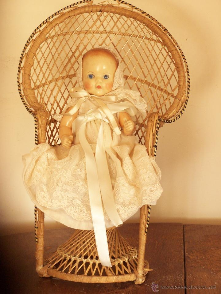 Muñecas Modernas: Bonito sillón de mimbre para muñeca. Dimensiones 40 cm. de atura. - Foto 2 - 54596495