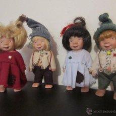 Muñecas Modernas: 4 MUÑECOS TROLLS, AUTORA SUSI EIMER, DE GOTZ 2000. Lote 54847381