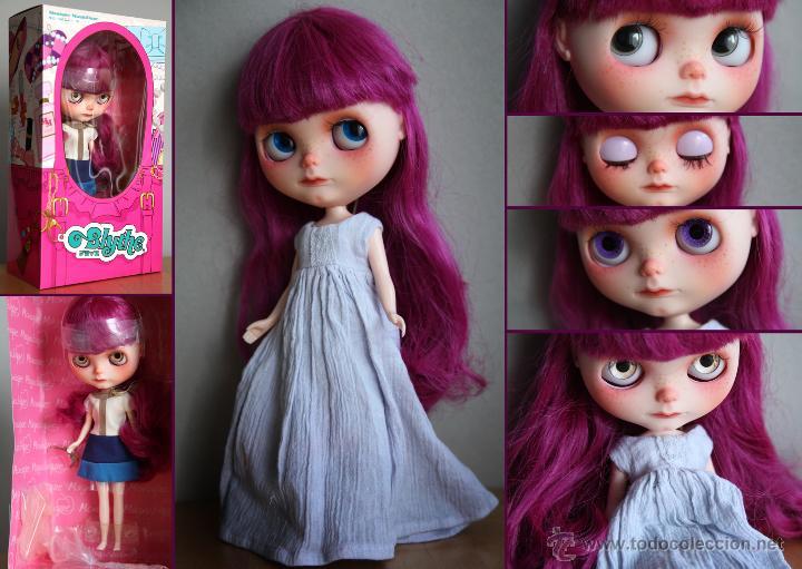 Muñecas Modernas: Preciosa y original OOAK Blythe art doll customizada y única con 2 vestidos y caja - Foto 22 - 55012841