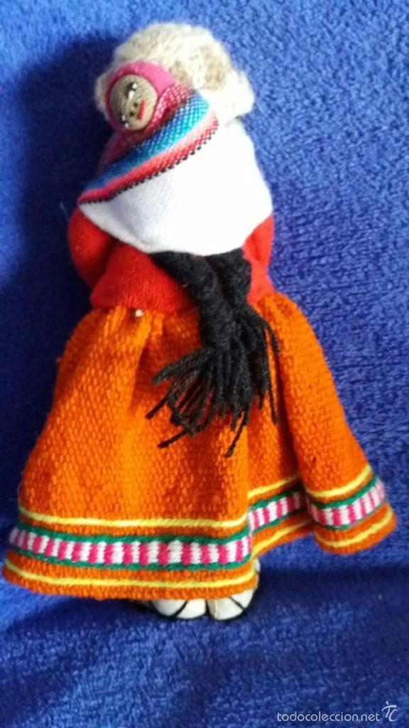 Muñecas Modernas: MUÑECA DE BOLIVIA DE TELA / CON BEBÉ EN LA ESPALDA. MIDE 23 CMS. DE ALTO - Foto 2 - 55904939